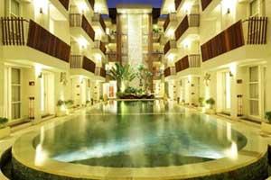 Tampilan Hotel Adhi Jaya Sunset Bintang 3 Yang Terletak Di Kuta